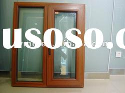 Wood clad thermal break aluminum casement window