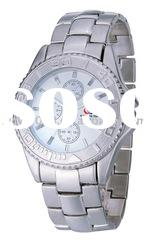 Wrist watch with stainless steel material