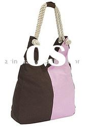 (XHF-LADY-094) canvas lady tote with rope handle