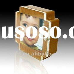 acrylic block photo frame magnet