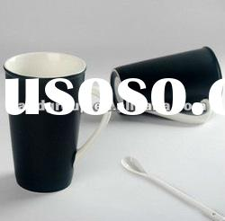 black classic ceramic mug /good quality ceramic porcelain coffee cup/Drinking porcelain cup