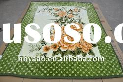 cheap price 100% ployester printed flower stock blanket