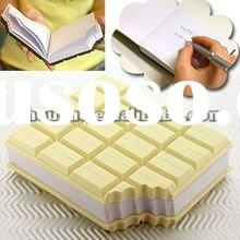 chocolate shaped memo pad/memo cube/note pad/sticky note cube