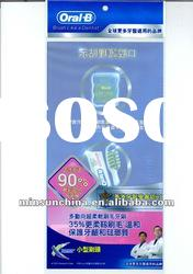 clear printed self adhesive plastic OPP bag with header