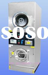 electric heating double deck commercial washer and dryer