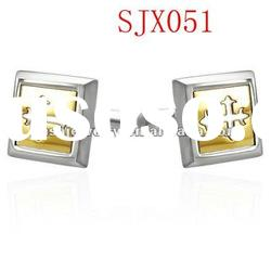 fashion men's 316L chirstian stainless steel cufflink