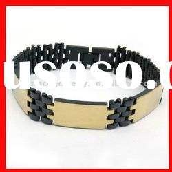 fashion stainless steel and silicone bracelets