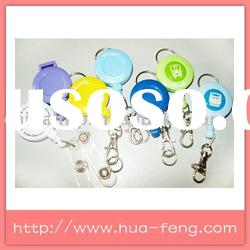 plastic retractable badge holder with belt clip