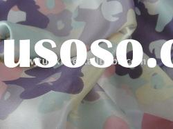 polyester printed stretch satin fabric for coat or dress