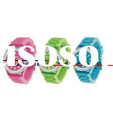 silicone diamond watches with high grade for swim use