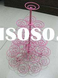 stainless steel wire kitchen craft colorful 29 cupcake tree holder stand JH-1011-5