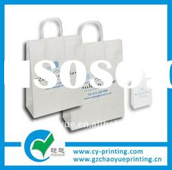 white kraft shopping hand bag printing service