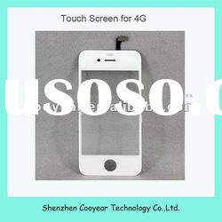 white mobile phone parts for iphone touch pen 4g paypal is accepted
