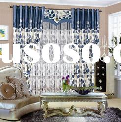 100% polyester printed blackout curtain fabric