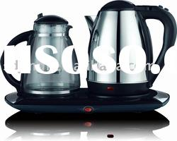 1.8L Cordless Electric Water Kettle Set with tray
