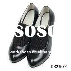 2011 lady high heel shoes black dress shoes with top quality