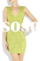 2012 Light Green Lady V Neck Party Evening Dress,Fashion Gowns Prom Dress DH192