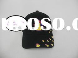 2012 New Style 100% Heavy Brushed Cotton Cute Embroidery 6 Panels Sports Hats and Caps