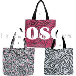 2012 fashion printed canvas handbag/tote bag