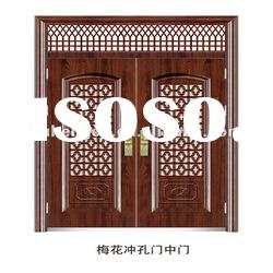 2012 latest design exterior security double steel door