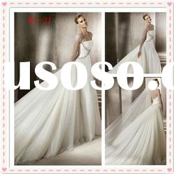 2012 summer indian A-line satin ruffle lace applique strapless showy wedding dress W1-21