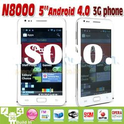 5inch Android 4.0 WCDMA/GSM 3G Dual SIM Mobile Phone N8000