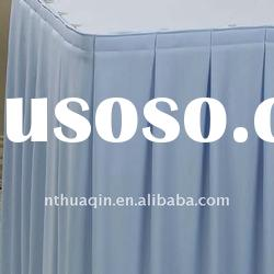 Banquet table skirting with top cover polyester wedding table skirting