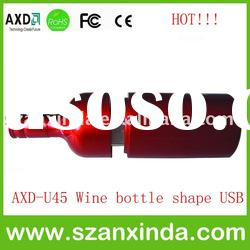 Best price promotional wine bottle usb flash drive
