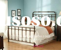 China manufacturer/bedroom furniture/queen size metal beds(0131)