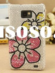 Flower luxury bling cover for Samsung 9100/galaxy 2