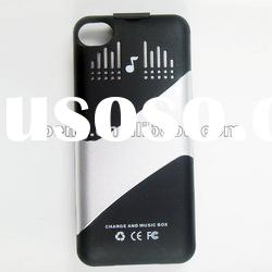 For Iphone 4 4S Back Up Battery Charger Case/Power Pack Battery Case With Speakers