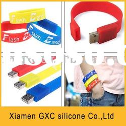 GXC USB flash drive-leather bracelet