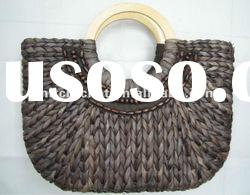 Hand made Knit Crochet Handicrafted Novelty Shaped Vintage Straw Beaded Handbags (KCC-HKBAG008/A)