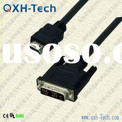 High quality 1.5M HDMI to DVI cable 1080p, offer OEM service and mix order