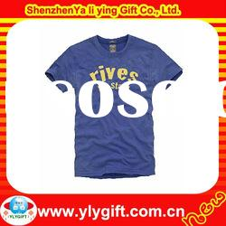 Hot Sell, 2012 Customized Short Sleeve Round neck Rubber Printng T shirts