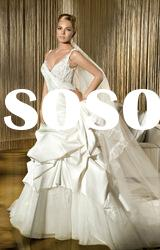 Hot sale ! Classic best-selling sweetheart lace flower wedding dresses