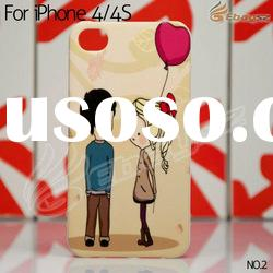 Hot selling Gimi Couple Series Lovely Couple Ballon Hard Back Case for iphone 4 4S LF-1253-2