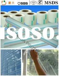 Low price PE glass self adhesive film for glass surface protection film