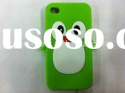 Mobile phone penguin silicone case for iphone 4 4s