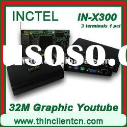 Ncomputing device(IN-X300) with youtube video supported, 7 users, 3 terminals and 1 PCI card etc