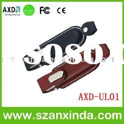 OEM leather usb flash disk in promotion