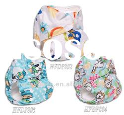 Pattern PUL reusable baby cloth diaper,washable,adjustable nappy,Happy Flute