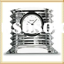 Personalized Optic Crystal clock For Home Decoration