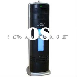 Portable electrostatic air purifier with activated carbon filter