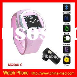 Quad band HOT seller cheap phone watch with 1.3M pixel camera