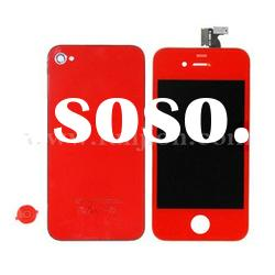 Red LCD Assembly+Back Cover+Battery Cover for iPhone 4S