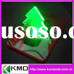 Romantic Green Christmas Tree Bulb LED Light (low cost as gift card or decoration light)