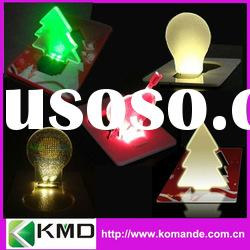 Romantic Green Christmas gift Tree Bulb LED Light (low cost as gift card or decoration light)