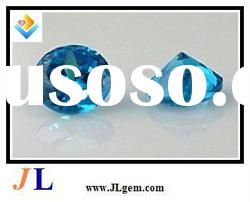 Round Shape Blue Synthetic Gemstones with AAA Grade