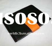 Two Tone Leather Sleeve Pouch Case for iPad 3 with Clasp